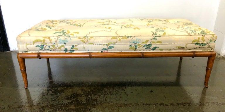 T.H. Robsjohn-Gibbings Custom Walnut Bench for the Kandell Residence In Good Condition For Sale In Hudson, NY
