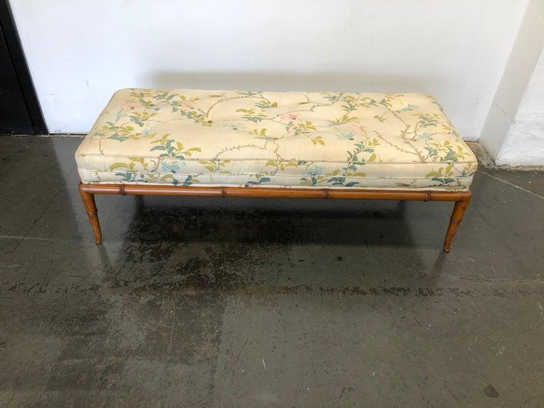 Mid-20th Century T.H. Robsjohn-Gibbings Custom Walnut Bench for the Kandell Residence For Sale