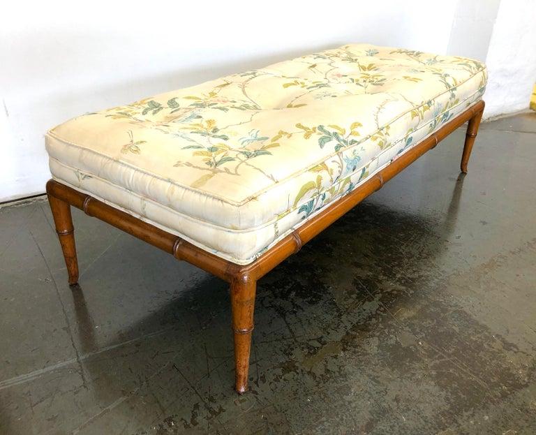 T.H. Robsjohn-Gibbings Custom Walnut Bench for the Kandell Residence For Sale 2