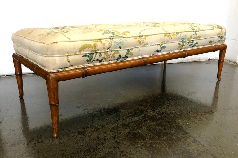 T.H. Robsjohn-Gibbings Custom Walnut Bench for the Kandell Residence For Sale 3