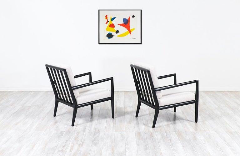 Mid-20th Century T.H. Robsjohn-Gibbings Ebonized Lounge Chairs for Widdicomb