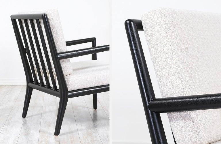 T.H. Robsjohn-Gibbings Ebonized Lounge Chairs for Widdicomb 2