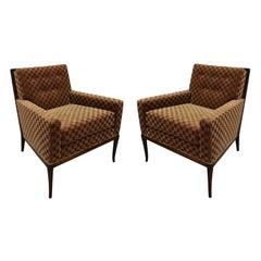 T.H. Robsjohn-Gibbings Elegant Pair of Club Chairs, 1950s