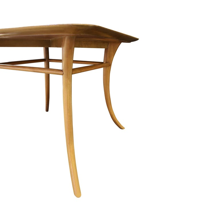Hand-Crafted T.H. Robsjohn-Gibbings End Table in Walnut with Klismos Legs, 1956 'Signed' For Sale