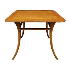 T.H. Robsjohn-Gibbings End Table in Walnut with Klismos Legs, 1956 'Signed'