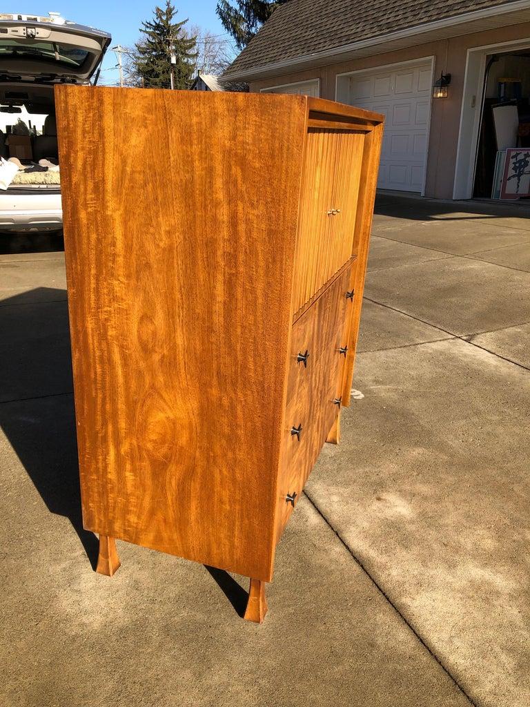 Brushed T.H. Robsjohn-Gibbings for Widdicomb Cabinet For Sale