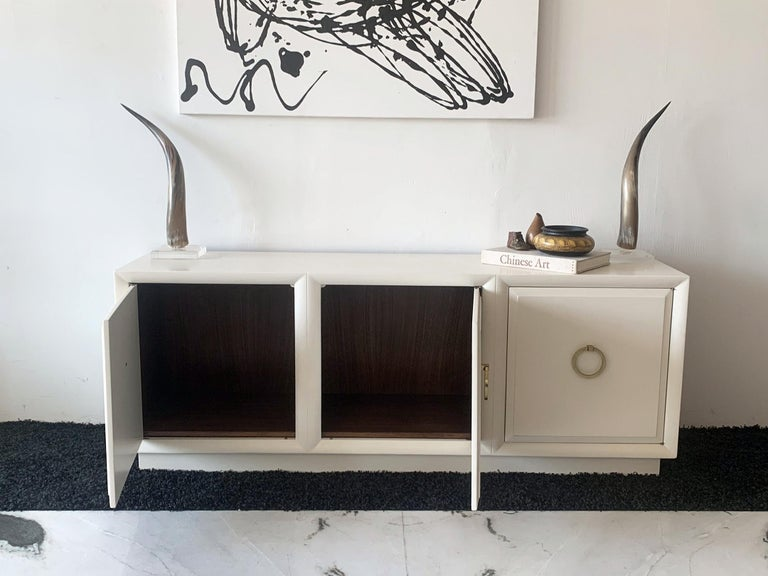 Lacquered T.H. Robsjohn Gibbings for Widdicomb Credenza, 1950's For Sale