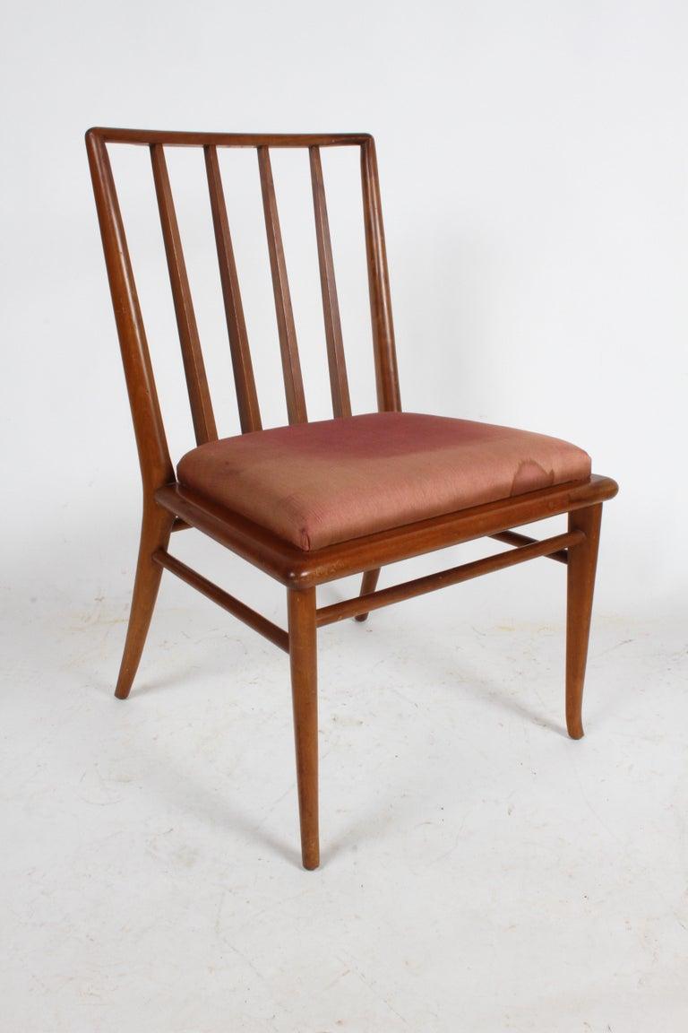Walnut T.H. Robsjohn-Gibbings for Widdicomb Dining or Desk Chair For Sale