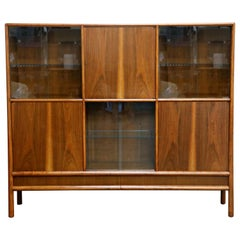 T.H. Robsjohn Gibbings for Widdicomb Display Bookcase Cabinet, 1950s, Signed