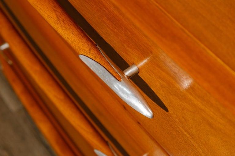 T.H. Robsjohn-Gibbings for Widdicomb Dresser with Spear Handles, c 1950, Signed For Sale 4