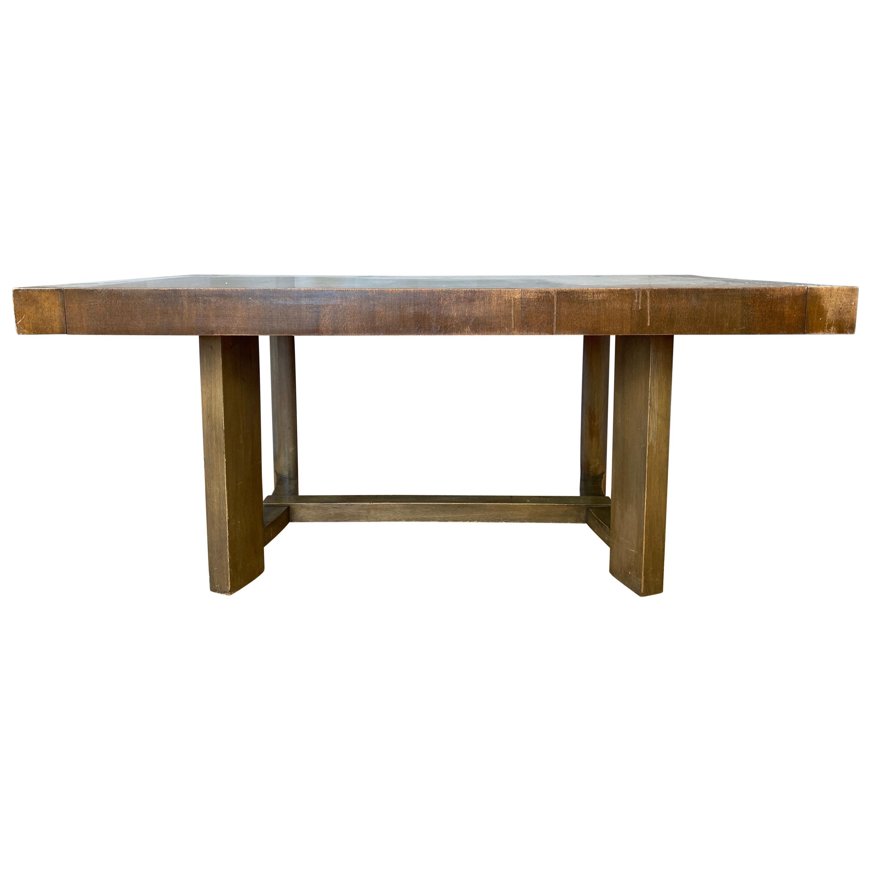 T.H. Robsjohn-Gibbings for Widdicomb Mahogany Extendable Dining Table, 1940s