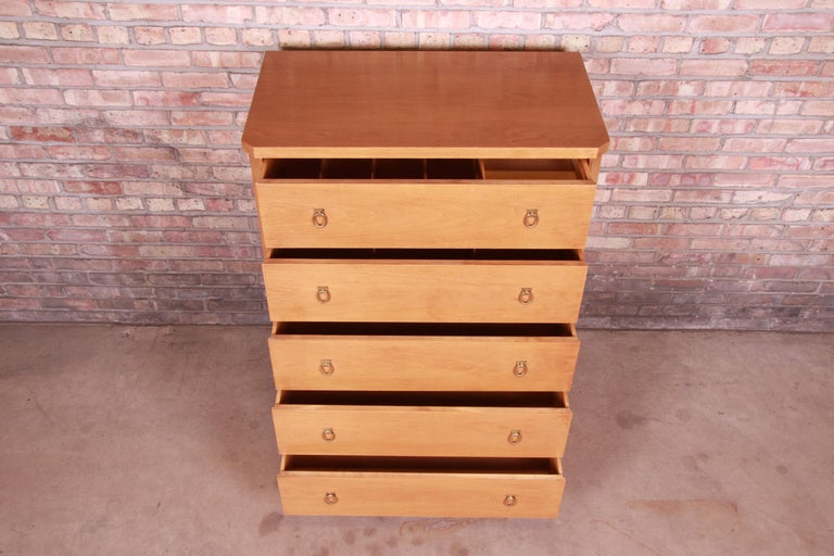 Mid-20th Century T.H. Robsjohn-Gibbings for Widdicomb Mid-Century Modern Walnut Highboy Dresser For Sale