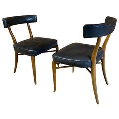 T.H. Robsjohn-Gibbings for Widdicomb Side Chairs, a Pair