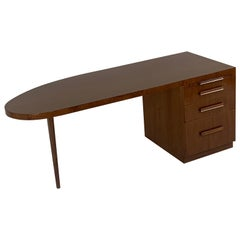 T.H. Robsjohn Gibbings for Widdicomb Sleek and Modern Sculptural Desk
