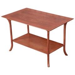 T.H. Robsjohn-Gibbings for Widdicomb Walnut Saber Leg Side Table, Refinished