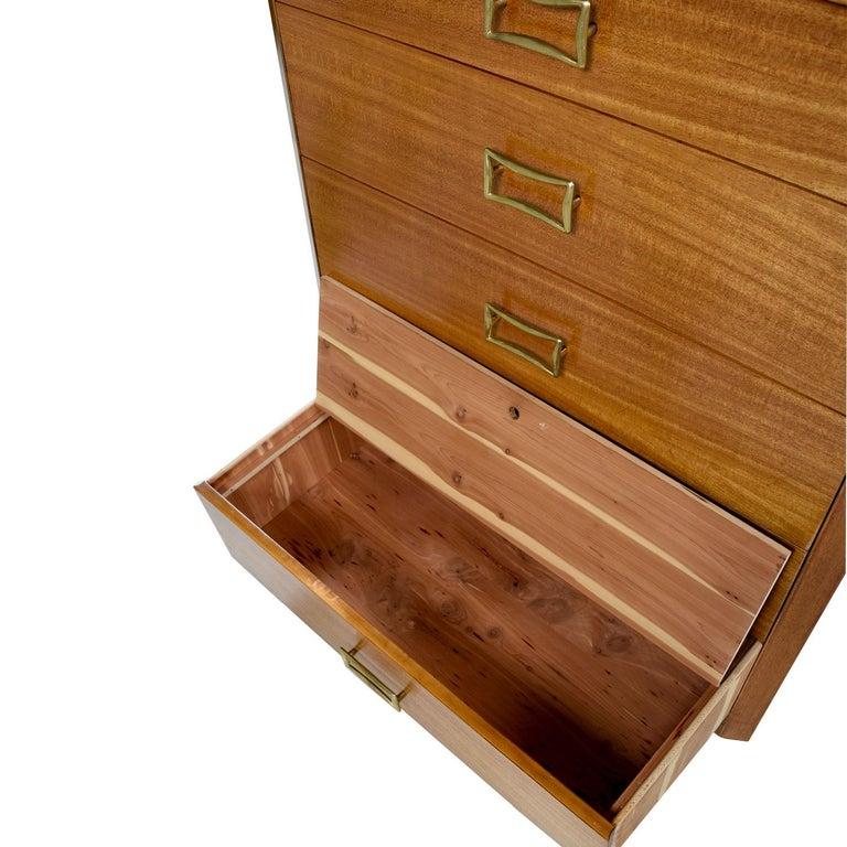T.H. Robsjohn-Gibbings for Widdicomb Yellow Mahogany Machine Age Dresser For Sale 2