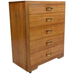 T.H. Robsjohn Gibbings for Widdicomb Yellow Mahogany Machine Age Dresser