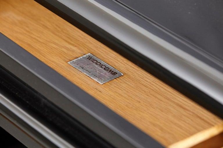 T.H. Robsjohn-Gibbings Kneehole Desk in New Black Piano Lacquer Finish For Sale 1