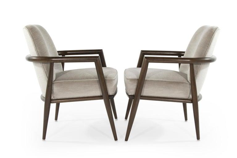 Mid-Century Modern T.H. Robsjohn-Gibbings Lounge Chairs, circa 1950s For Sale
