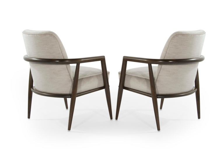 American T.H. Robsjohn-Gibbings Lounge Chairs, circa 1950s For Sale