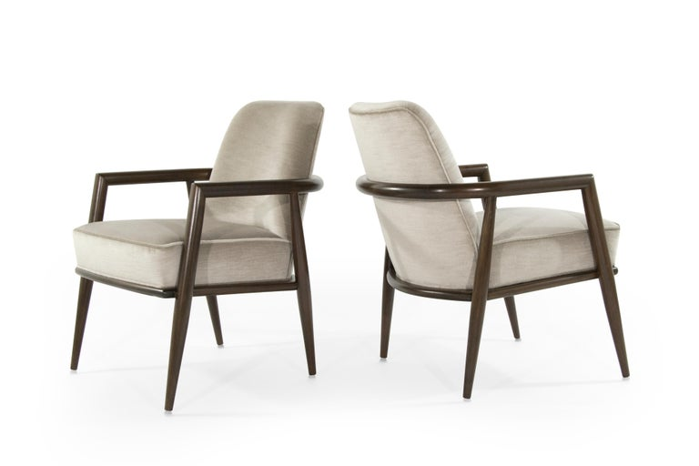 T.H. Robsjohn-Gibbings Lounge Chairs, circa 1950s In Excellent Condition For Sale In Stamford, CT