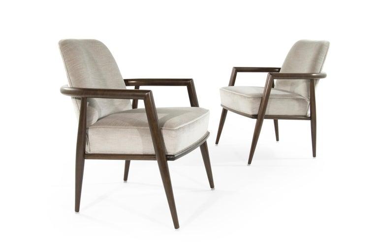 20th Century T.H. Robsjohn-Gibbings Lounge Chairs, circa 1950s For Sale