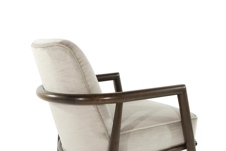 Mohair T.H. Robsjohn-Gibbings Lounge Chairs, circa 1950s For Sale
