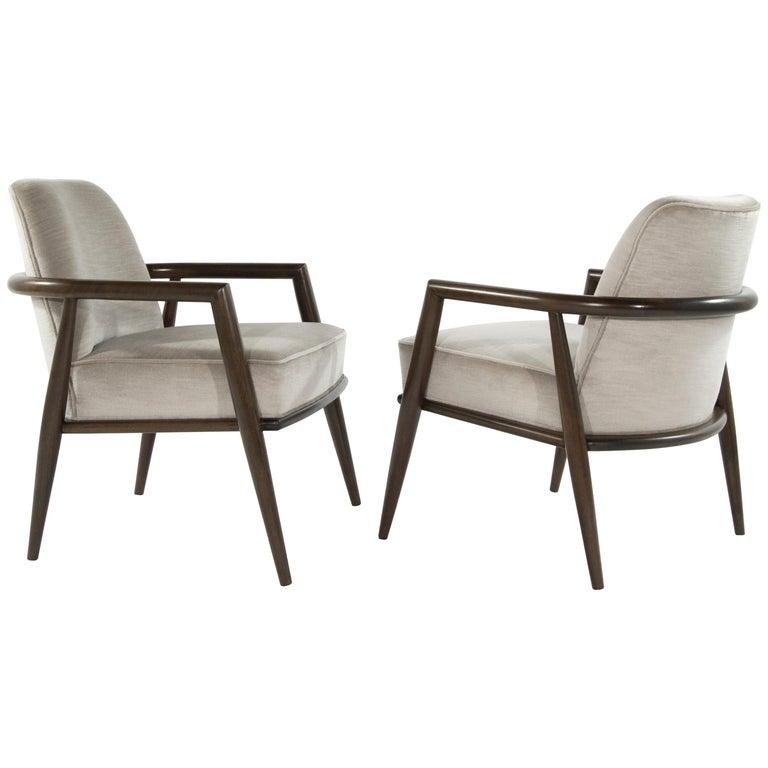 T.H. Robsjohn-Gibbings Lounge Chairs, circa 1950s For Sale