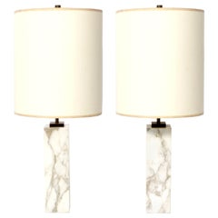 T.H. Robsjohn Gibbings Marble Lamps