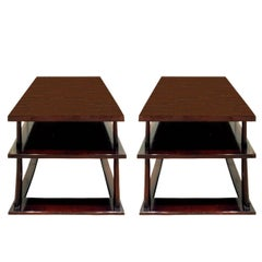 T.H. Robsjohn-Gibbings Pair of End Tables in Walnut, 1950s
