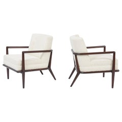 T.H. Robsjohn-Gibbings Pair of Lounge Chairs in Cashmere