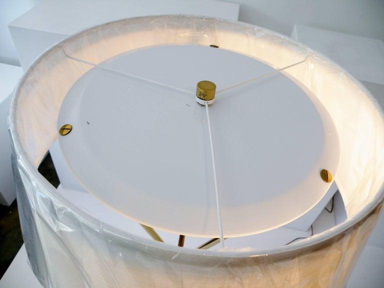20th Century T.H. Robsjohn-Gibbings Paul Hansen NY Brass Tripod Floor Lamp For Sale