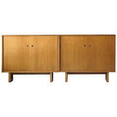 T.H. Robsjohn-Gibbings, Rare Cabinets, Bleached Walnut, Widdicomb, 1950s