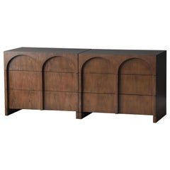 "T.H. Robsjohn-Gibbings, Rare ""Colosseum"" Chests, Walnut, Widdicomb, 1950s"