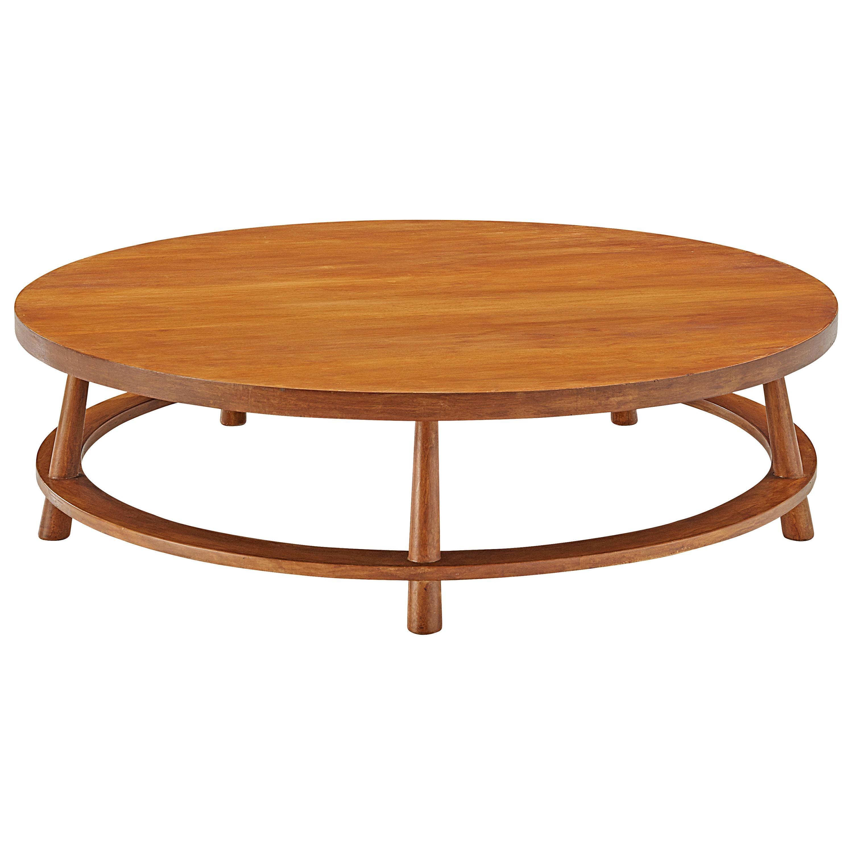T.H. Robsjohn-Gibbings Round Coffee Table Model '48' in Walnut