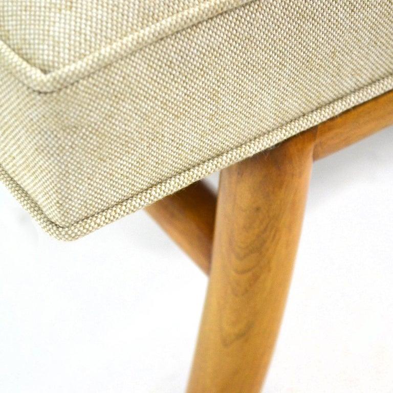 Mid-20th Century T.H. Robsjohn-Gibbings Saber Leg Bench by Widdicomb For Sale