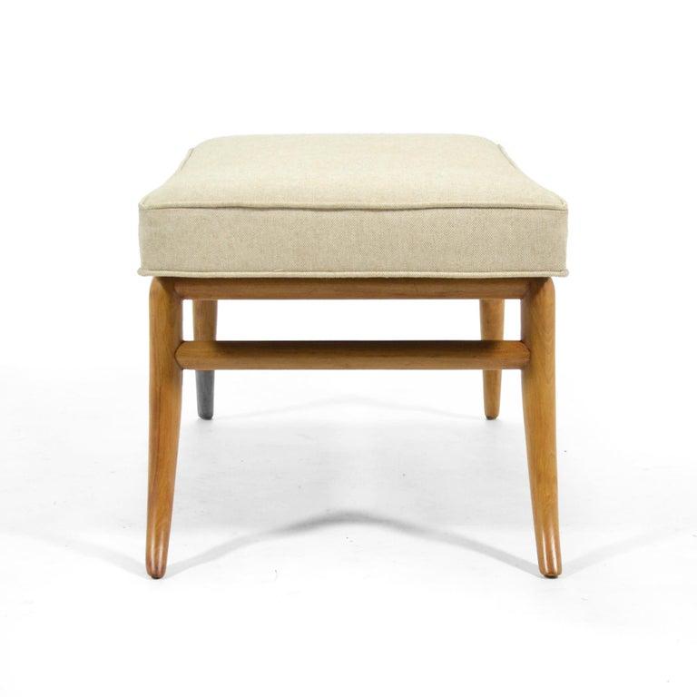 Upholstery T.H. Robsjohn-Gibbings Saber Leg Bench by Widdicomb For Sale