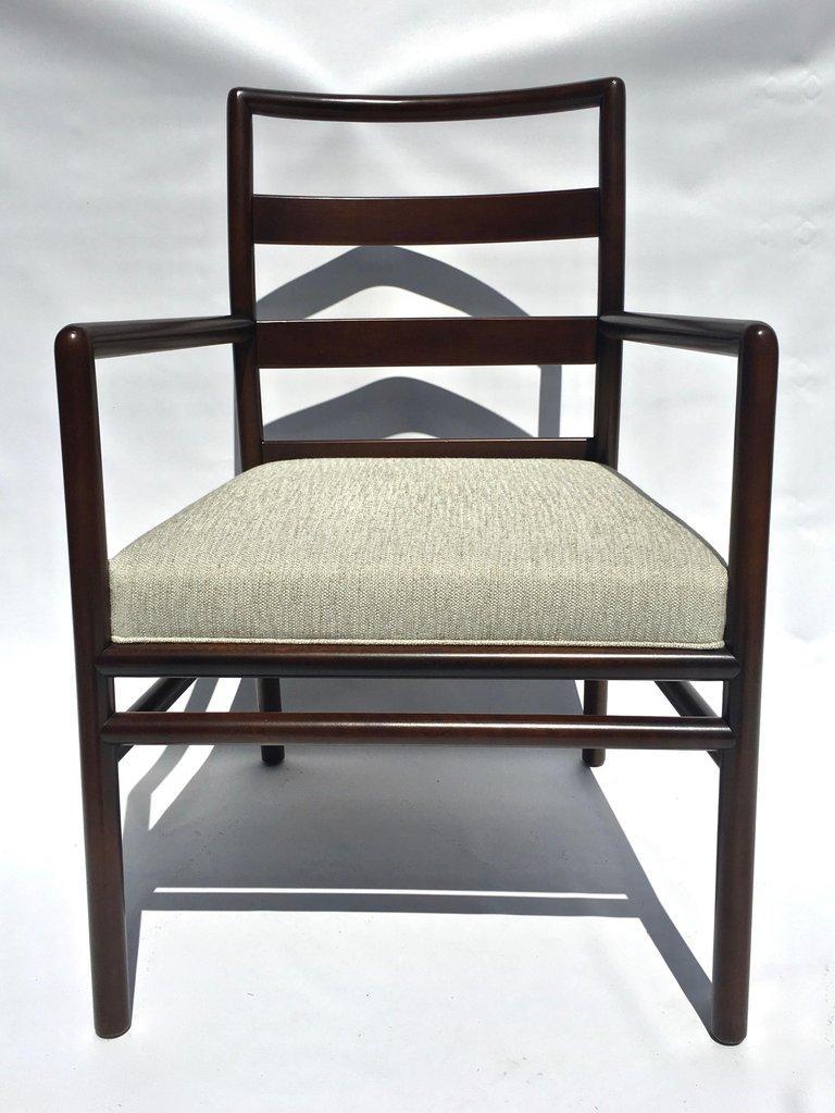 T.H. Robsjohn-Gibbings Set of Six Ladder Back Dining Chairs For Sale 4