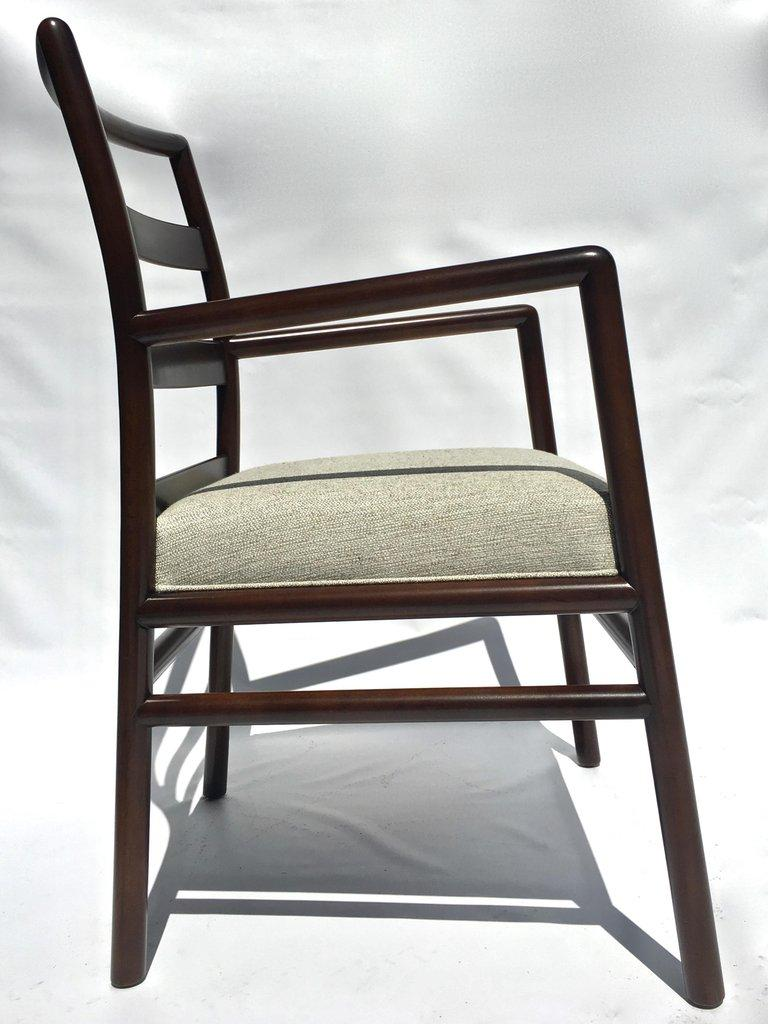 T.H. Robsjohn-Gibbings Set of Six Ladder Back Dining Chairs For Sale 5