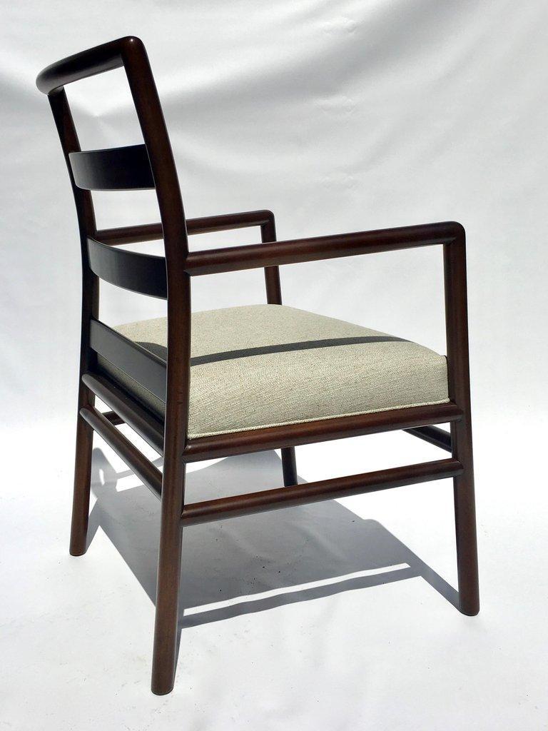 T.H. Robsjohn-Gibbings Set of Six Ladder Back Dining Chairs For Sale 6