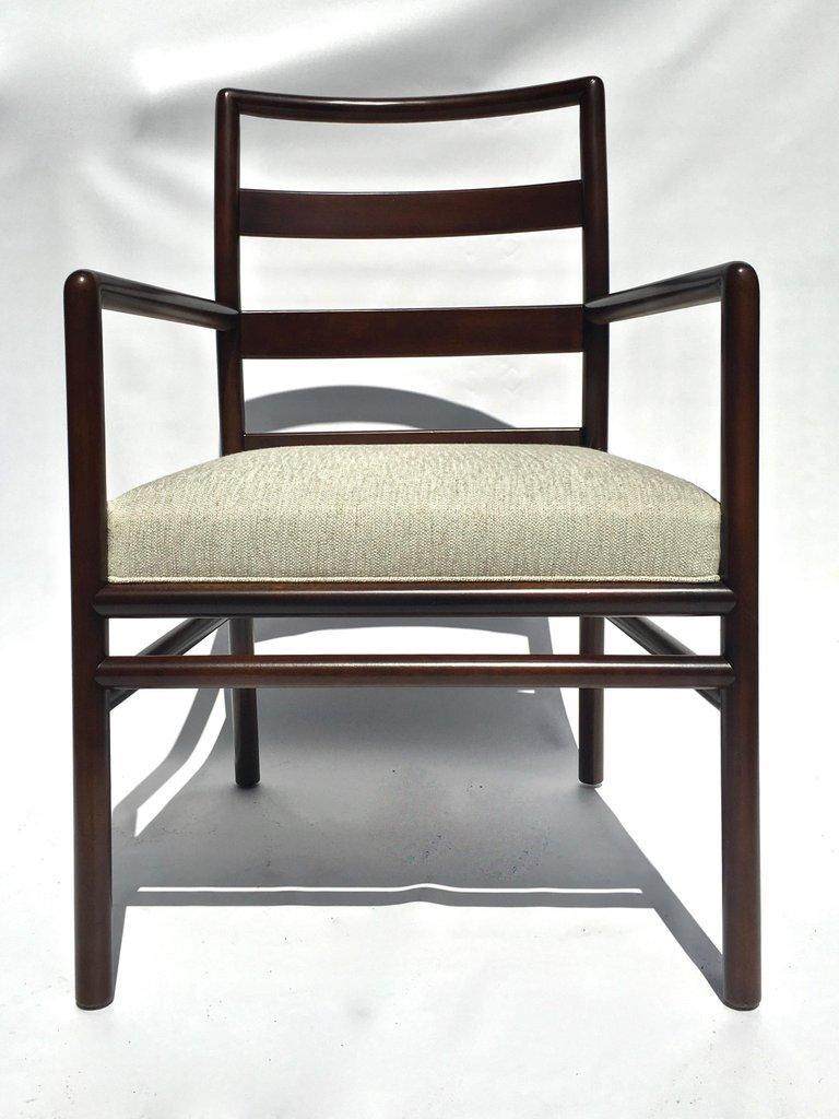 T.H. Robsjohn-Gibbings Set of Six Ladder Back Dining Chairs For Sale 7