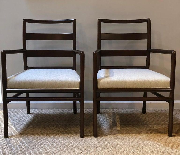 Mid-Century Modern T.H. Robsjohn-Gibbings Set of Six Ladder Back Dining Chairs For Sale