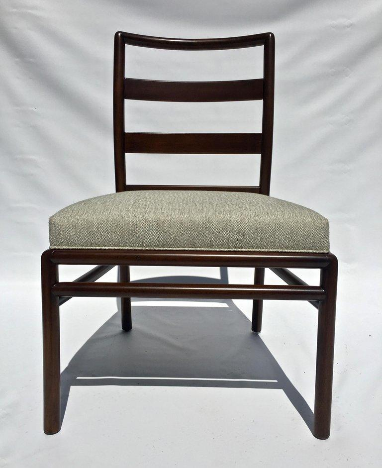 T.H. Robsjohn-Gibbings Set of Six Ladder Back Dining Chairs In Good Condition For Sale In Stamford, CT