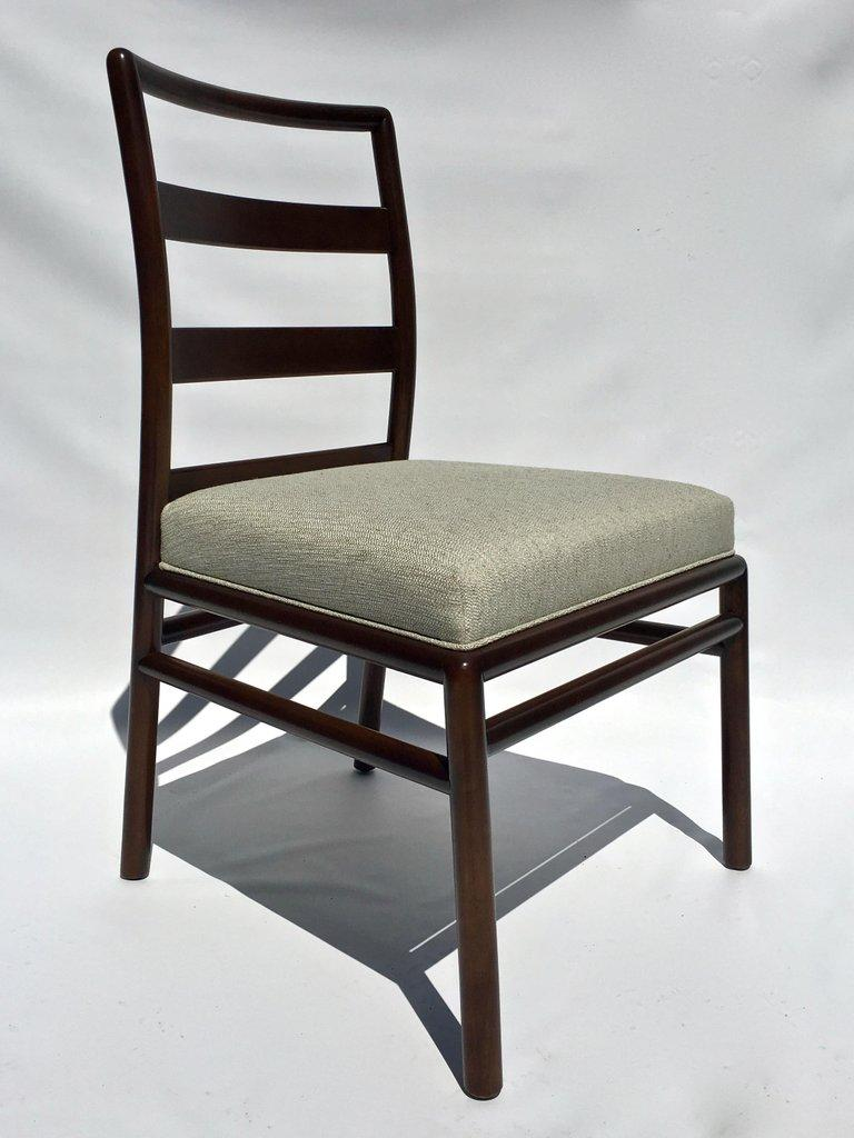 20th Century T.H. Robsjohn-Gibbings Set of Six Ladder Back Dining Chairs For Sale