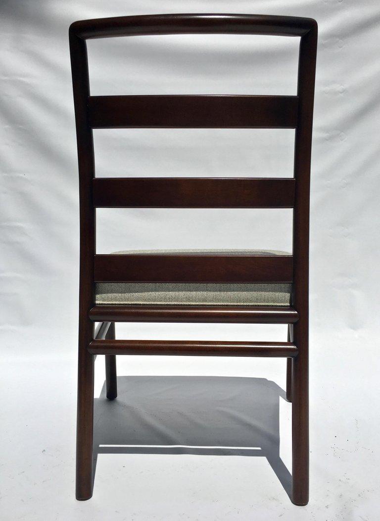 T.H. Robsjohn-Gibbings Set of Six Ladder Back Dining Chairs For Sale 2