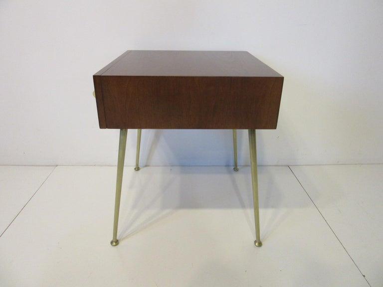 Mid-Century Modern T.H. Robsjohn-Gibbings Side, End Table / Nightstand for Widdicomb For Sale