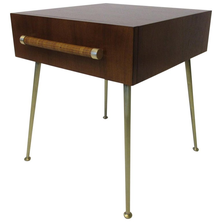 T.H. Robsjohn-Gibbings Side, End Table / Nightstand for Widdicomb For Sale