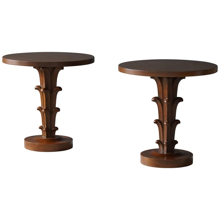 T.H. Robsjohn-Gibbings, Side Tables / End Tables, Walnut, Widdicomb, America For Sale