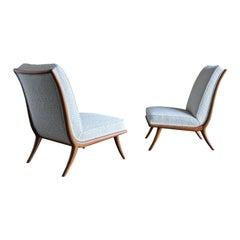 T.H. Robsjohn-Gibbings Slipper Chairs for Widdicomb, circa 1955