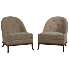 T.H. Robsjohn-Gibbings Slipper Lounge Chairs for Widdicomb